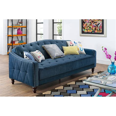 navy blue futon sofa bed vintage tufted sofa sleeper green blue gray pink dark red