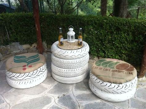 The Garden Table by 11 Fantastic Ways To Recycle Tires Into Your Garden Decor