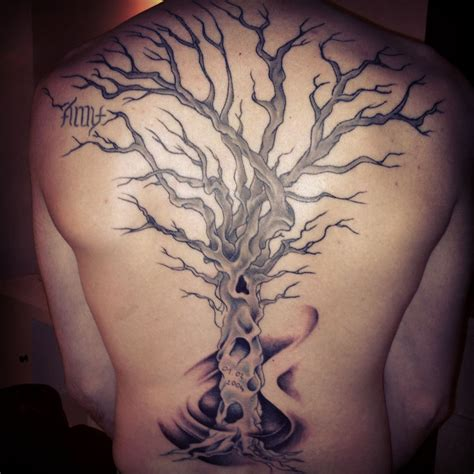 tree tattoo on back 30 awesome dead tree designs to try right now