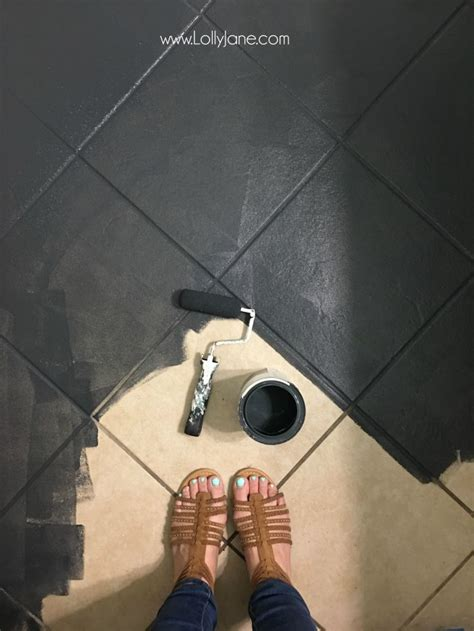 chalkboard paint floor your tile floors paint them painted tiles tile