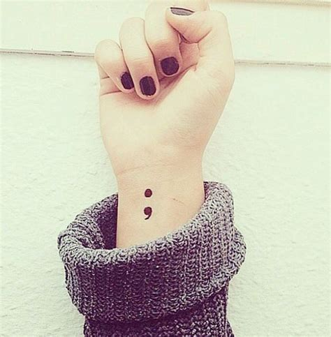 tattoo uk instagram people are drawing semi colons on their wrists as a