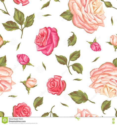 decorative paper roses seamless pattern with vintage roses decorative retro