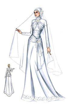 gaun pengantin putih sederhana tanpa hiasan busana pengantin