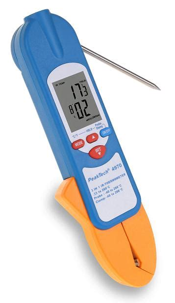Thermometer Digital Infrared 311 sagatron shop peaktech p 4970 3 in 1 ir thermometer