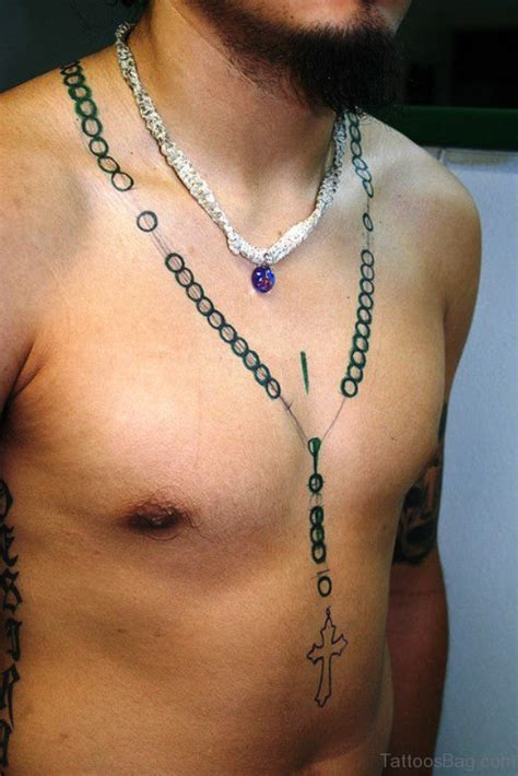 47 superb rosary tattoos on neck