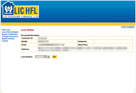 lic housing loan details lichfl generating home loan statements online