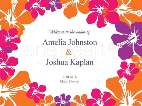 hawaiian powerpoint template hawaiian wedding powerpoint slide 1