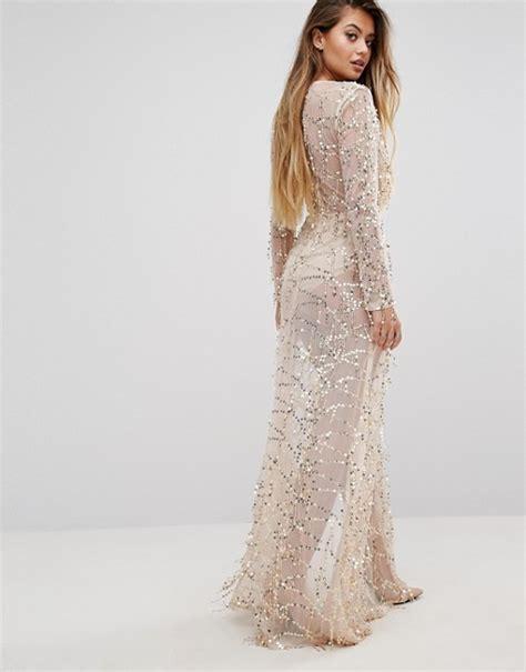 Dress Premium 2warna Silvergold sequin maxi dress dresses