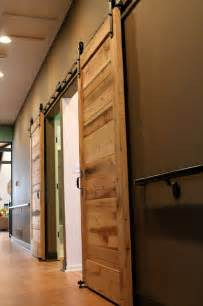 Inside Sliding Barn Doors Sliding Barn Doors Contemporary Bedroom Other Metro By Reclaimed Lumber Products