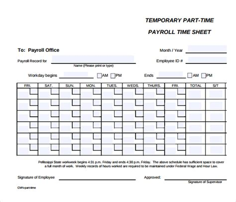 5 payroll time sheets free secure paystub