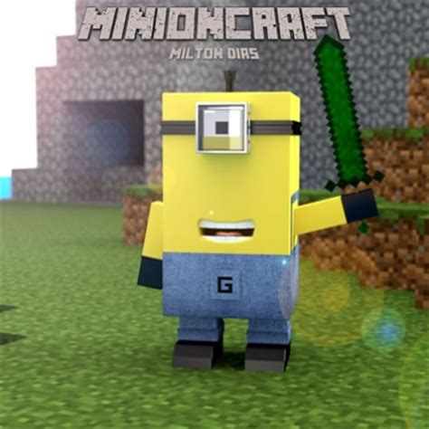 despicable me minion joins the minecraft world graphic meme