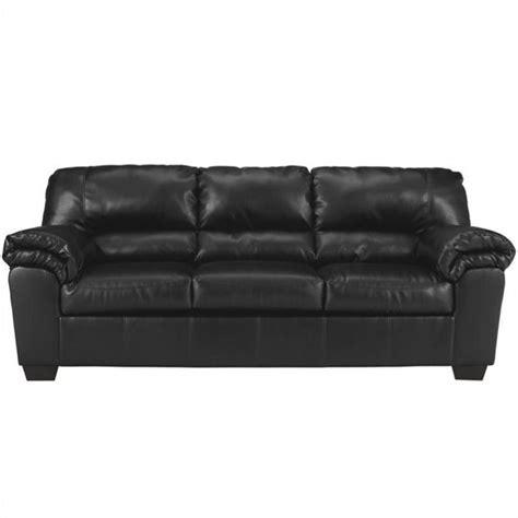 faux leather living room furniture peenmedia com ashley commando faux leather sofa in black 6450038