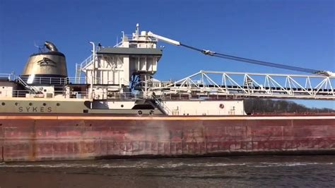 schip wilford freighter wilfred sykes leaving grand haven youtube