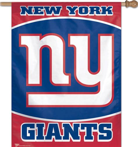 giants colors new york ny giants logo team color vertical banner flag