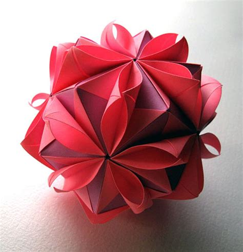Origami Flower Balls - origami flower by fanshefolds on etsy