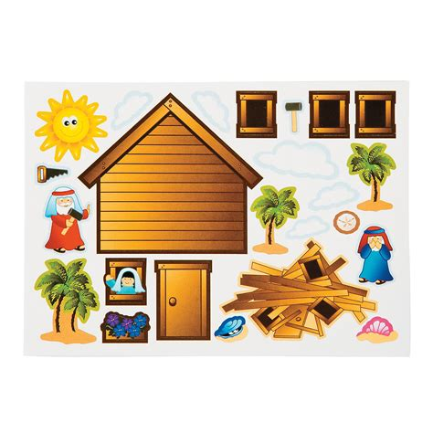 Oriental Trading Home Decor wise amp foolish builder sticker scenes oriental trading