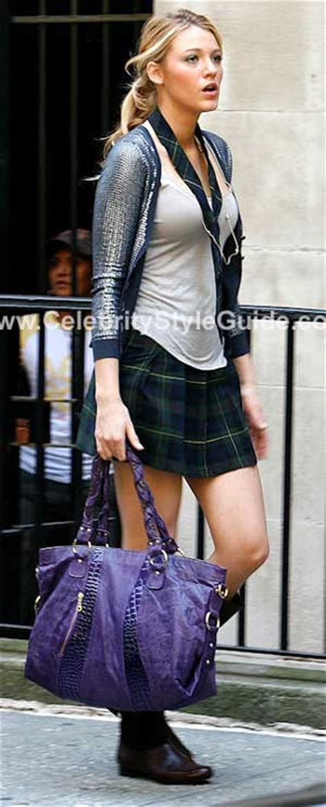 The Bryna Loyola Handbag by Lively Wearing Bryna Loyola In Purple