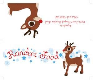 Free reindeer food tags printables magic reindeer food poem printable