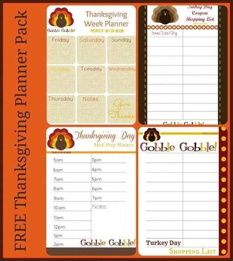 printable thanksgiving planner free thanksgiving planner printables shopping