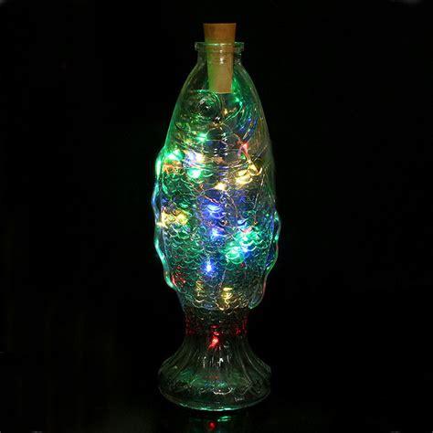 Solar Wine Bottle Cork Shaped String Light 8 Led Night Wine Bottle String Lights