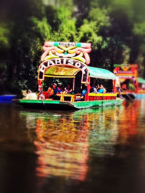 The Floating Gardens Of Xochimilco by Trajinera Boats At The Floating Gardens Of Xochimilco