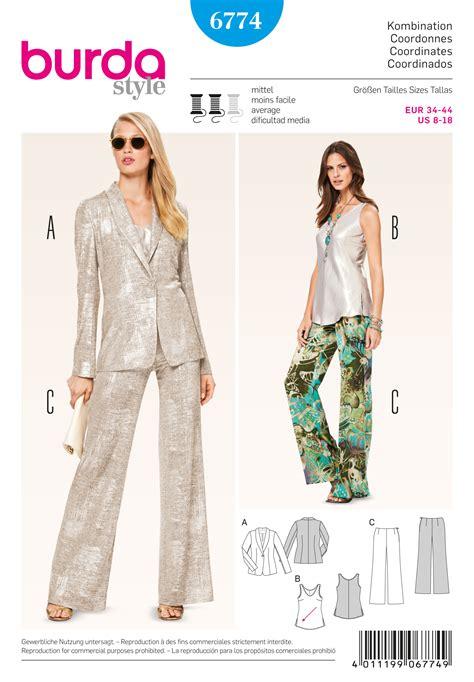 pattern review best patterns 2015 burda 6774 burda style coordinates pantsuits suits