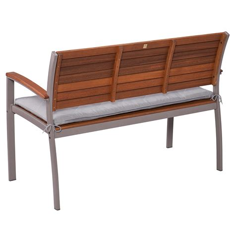 contemporary bench with back medina modern gray outdoor bench eurway furniture