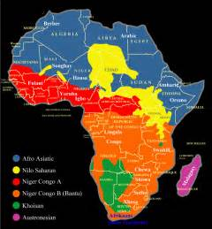 Language Map Of Africa by Map Of The Distribution Of African Languages Nations