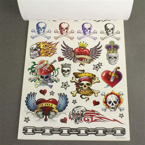 tattoo shop uden midlertidige tatoveringer i sort og farver ark med 200 stk