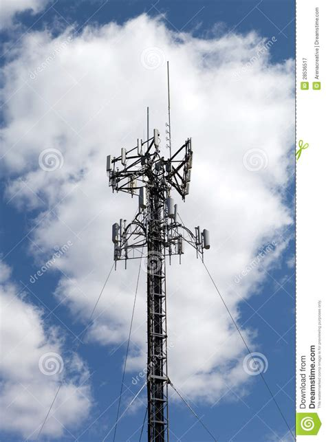 cell phone antenna tower stock image image  industrial