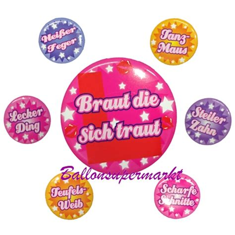 Set Braut by Ballonsupermarkt Onlineshop De Button Set Braut Zu