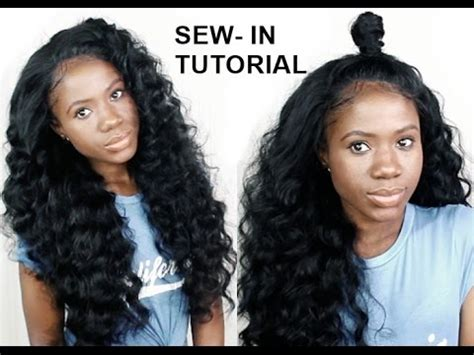 how to style a sewin with no leave out how to do sew in weave with no leave out for beginners