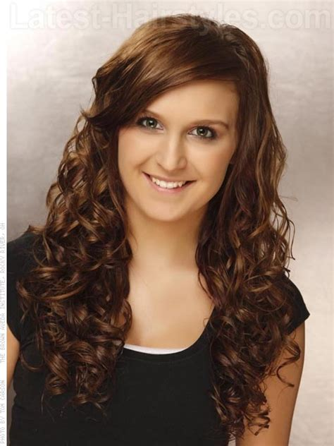 hairstyles for long hair semi formal side fringe hairstyles for curly hair www pixshark com