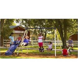 walmart backyard playsets flyer ii metal swing set walmart