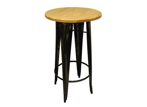 Black Bistro Table Thelounge Industrial Black Bistro Table