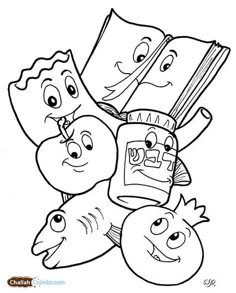 jewish preschool coloring pages 14 printable pictures of rosh hashanah page print color