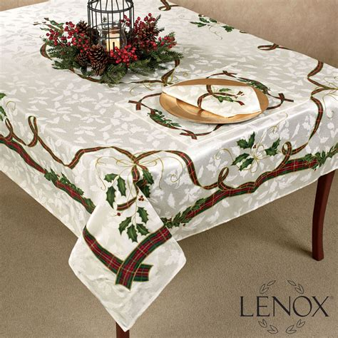 christmas table linens photograph holiday nouveau oblong t