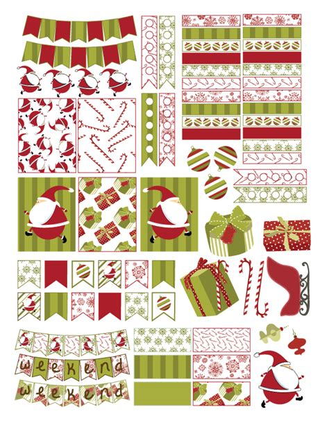 free printable christmas planner stickers free christmas planner sticker printable oh my sweet