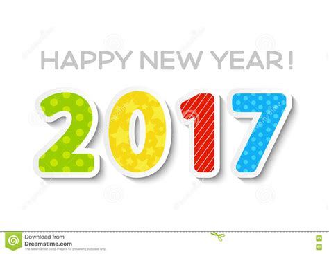 2017 new year concept stock vector image 75538746