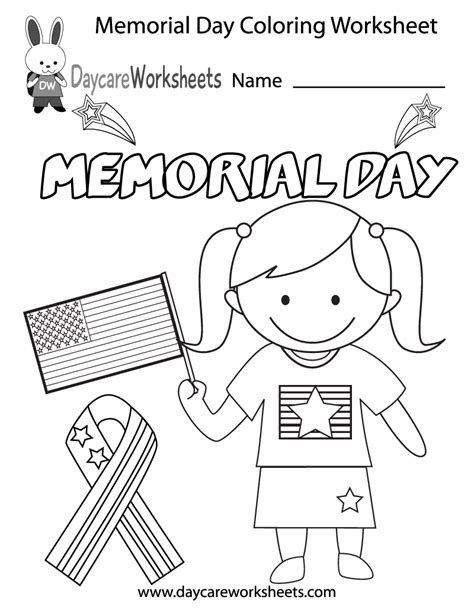 preschool coloring pages for memorial day free preschool memorial day coloring worksheet