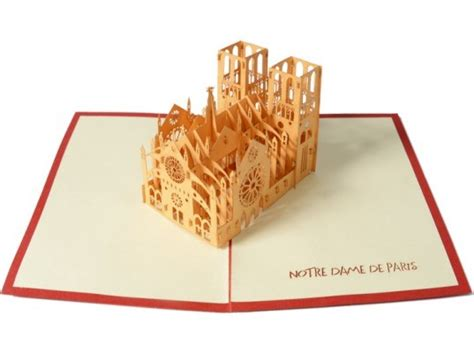 Laser Cut Popup Card Template by House Of Cards Uses A Laser Cutter To Create Elaborate