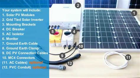 wiring a solar power system wiring diagram with description