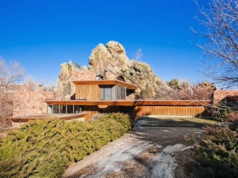 house of the week boulder co home built on a boulder
