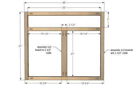 ana white build  kitchen cabinet sink base  full