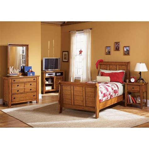 youth bedroom sets grandpas cabin youth sleigh bedroom set liberty furniture 13896 | 175 yth slgh br set 1