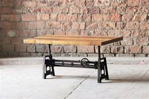 Adjustable Height Coffee Table Dining Table Hyatt Fulton Industrial Adjustable Height Coffee Dining