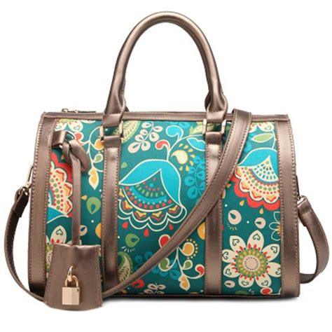 Dressc Print Tote by Vintage S Tote Bag With Zip And Floral Print Design