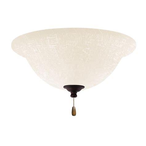 emerson ceiling fan light kit emerson white linen led array venetian bronze ceiling fan