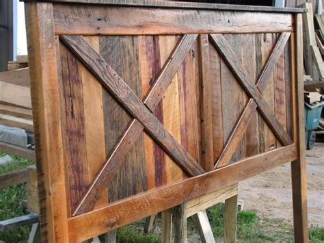 barnwood headboard diy a lot larger would be awesome