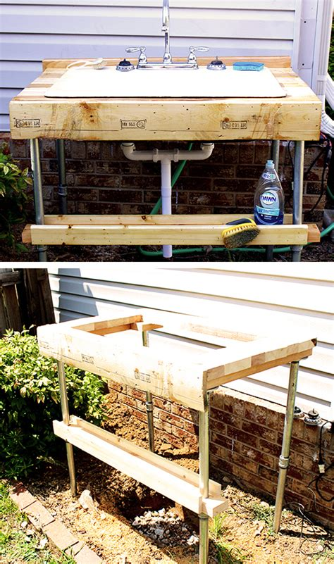 Outside Sinks by Easy To Build Outdoor Garden Sink